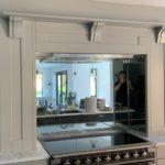 mirror glass splashback