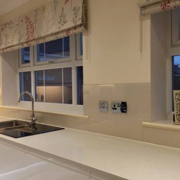 Almond Glass Splashback uk