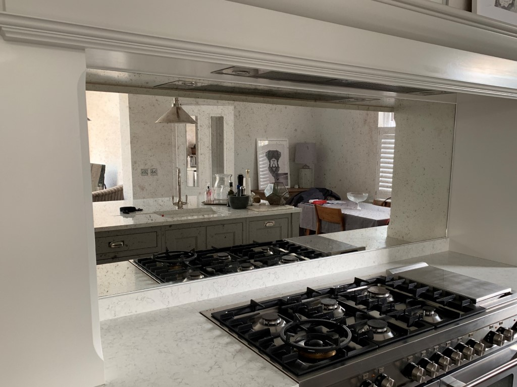 Antique Mirror backsplash