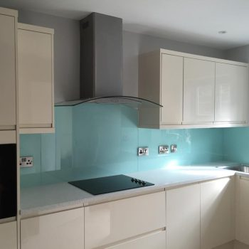 Aqua Glass Splashbacks