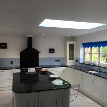 Bespoke Blue Glass Splashbacks