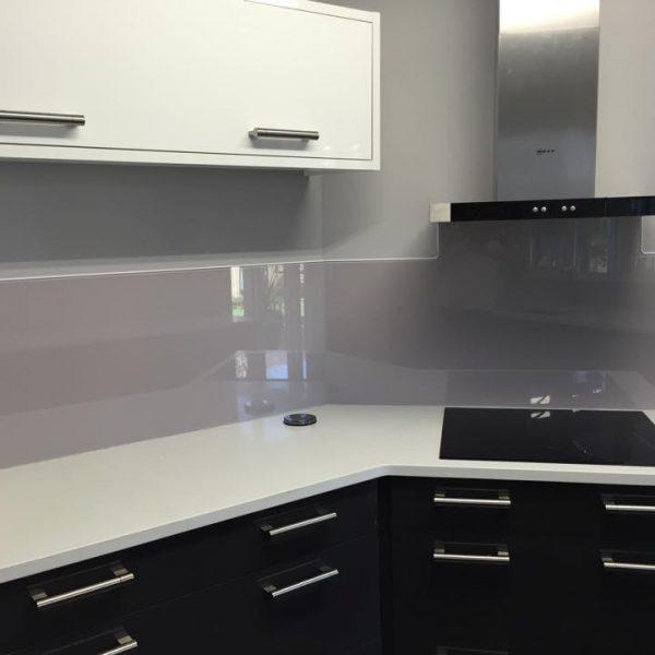 Bespoke Grey Glass Splashback