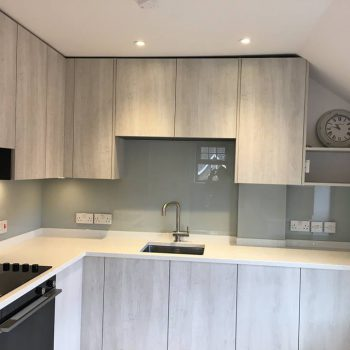 Bespoke Grey Glass Splashbacks