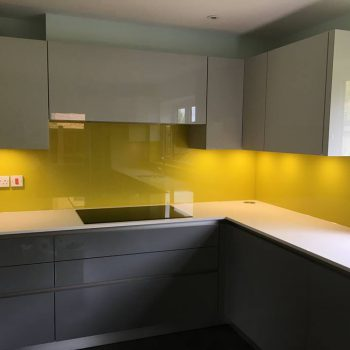 Bespoke Yellow Glass Splashbacks