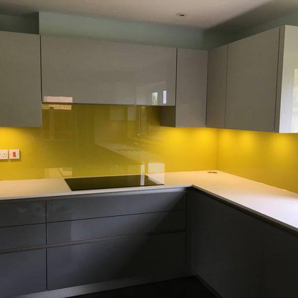 Bespoke Yellow Glass Splashbacks