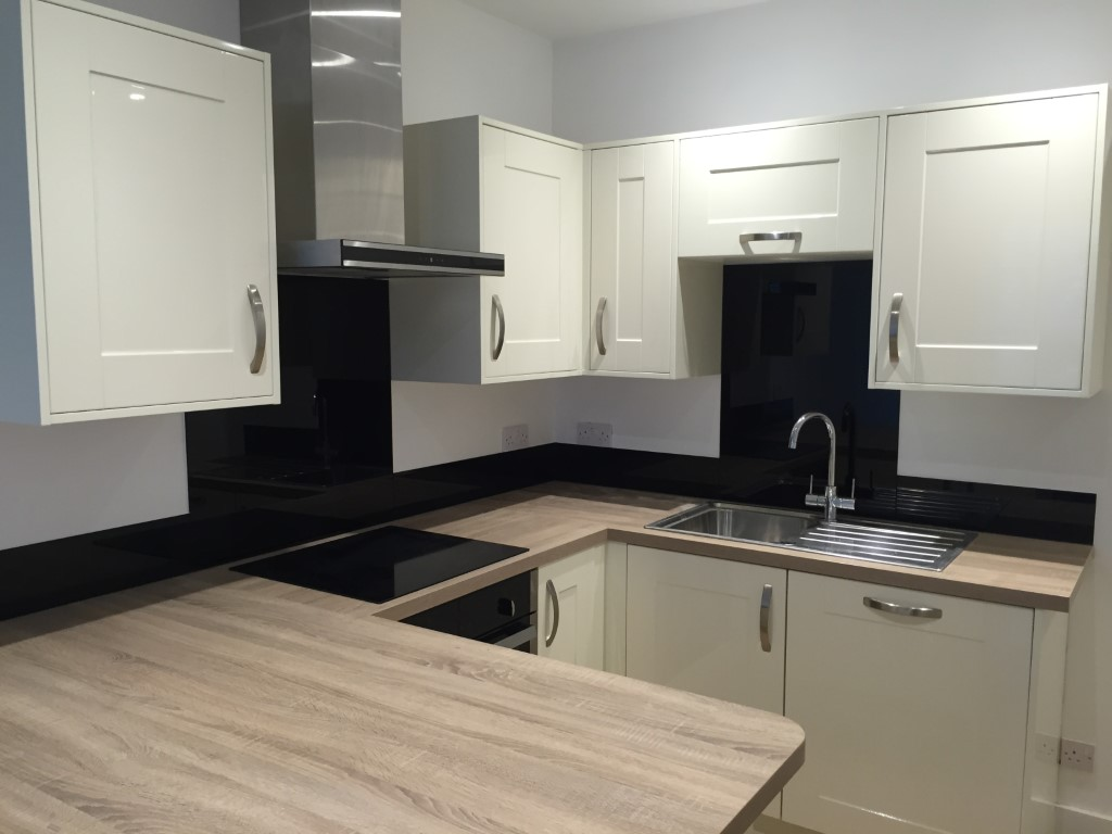 coloured glass Kitchen Splashback