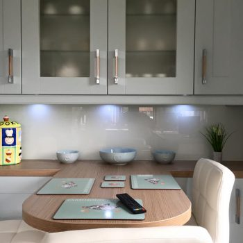 fog grey glass splashback uk