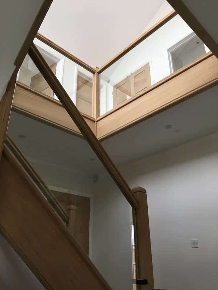 internal glass stair balustrade