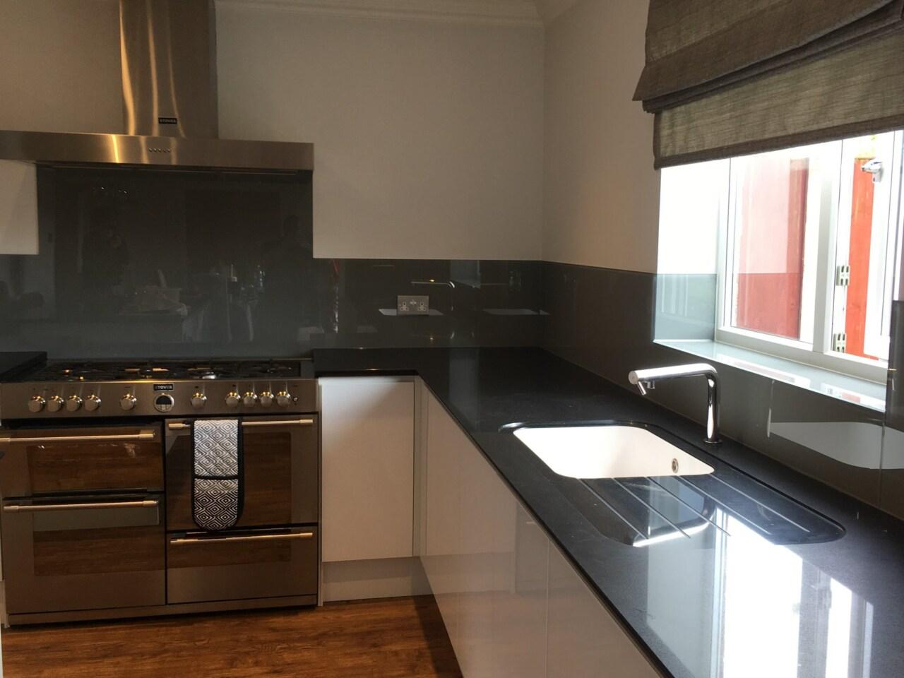 Grey Colour Match Splashback For Kitchen