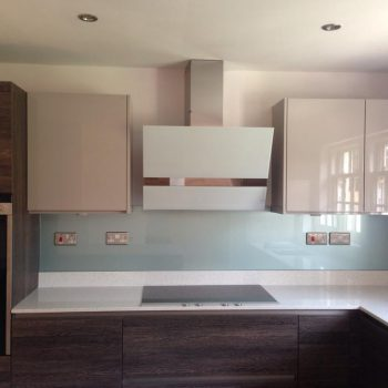 made to measure kitchen splashback metalic