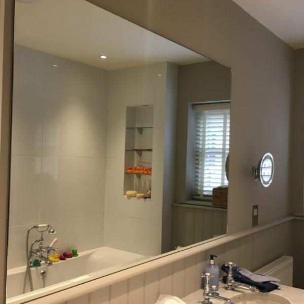 glass bathroom mirror