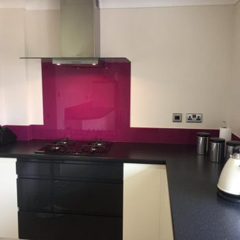 made to measure splashback plum