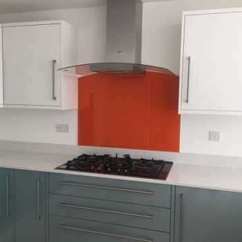 made to measure orange splashback