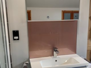 Rose Gold bathroom splashback