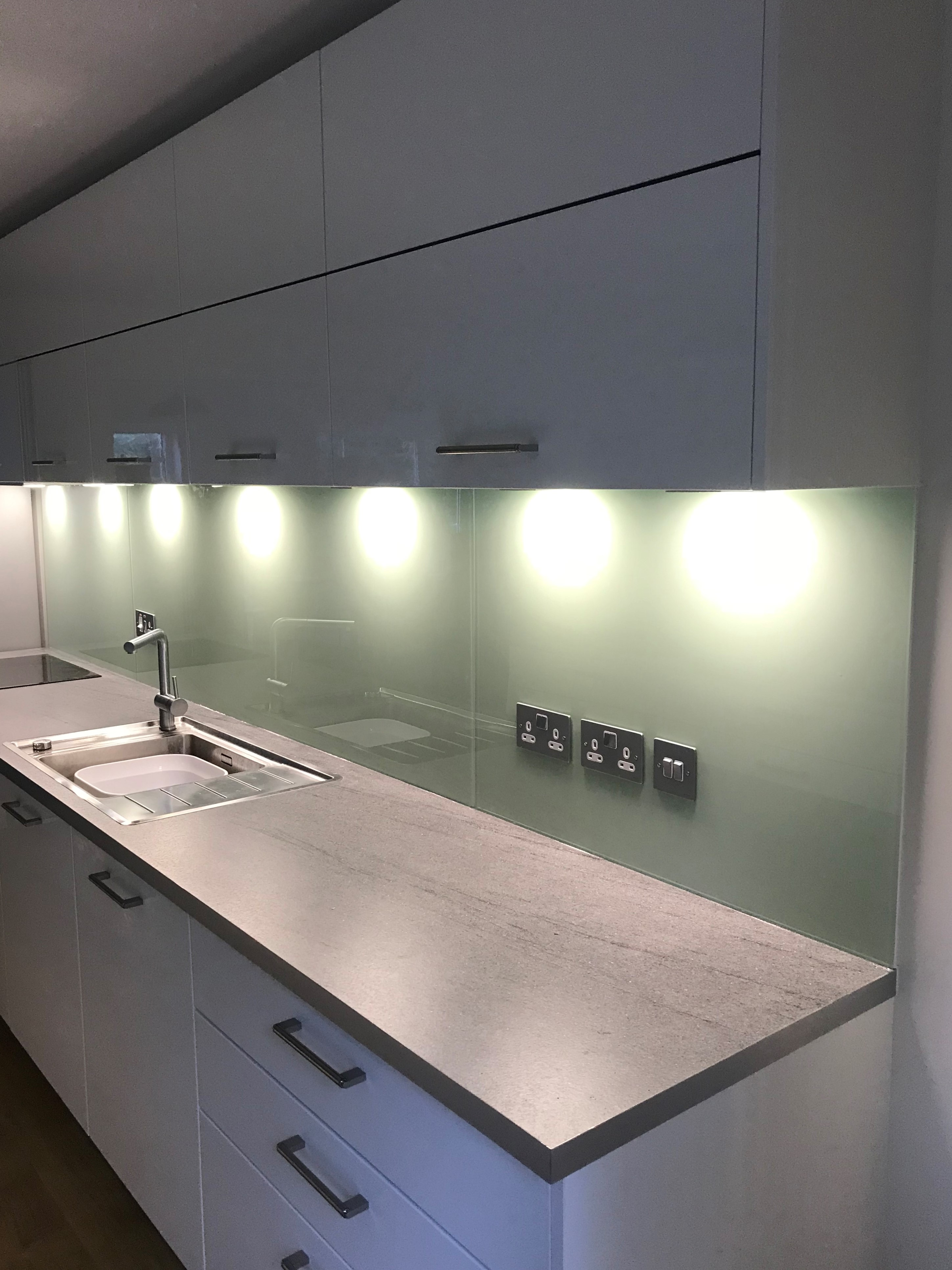Coloured Glass Kitchen Splashbacks, Worktops Kitchen