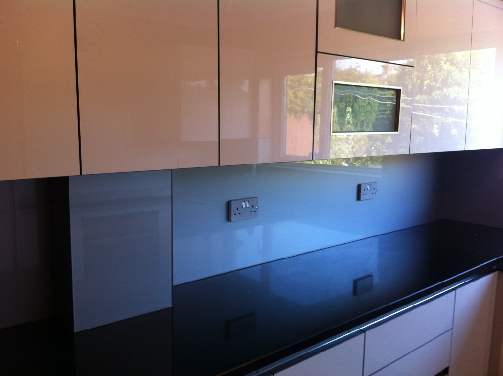 Silver Kitchen Glass Splashback Norwich Noroflk