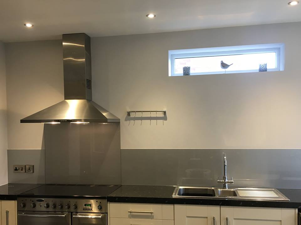 silver kitchen splashback norwich norfolk