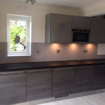 steel glass made to measure coloured splashback