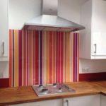 striped coloured glass kitchen splashback uk