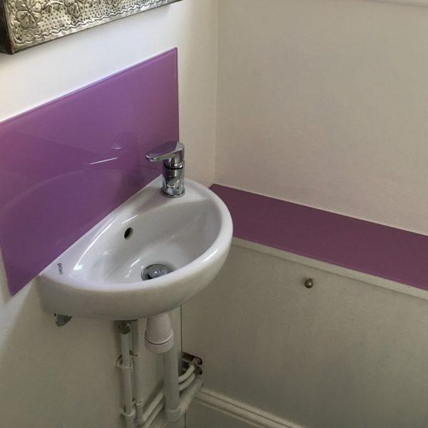 Bathroom Coloured Splashback