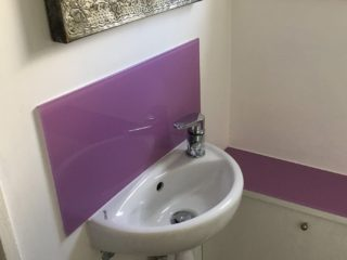 Bathroom Coloured Splashback