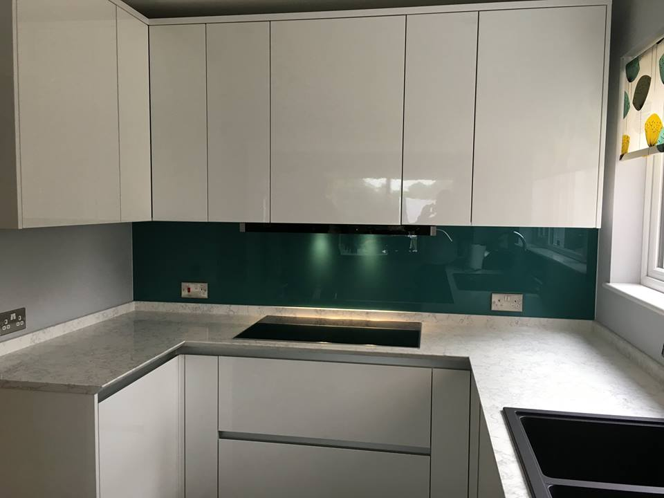 Bespoke Glass Kitchen Cloloured Splashback