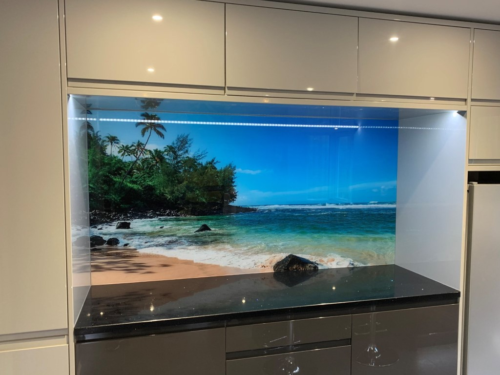 Bespoke Kitchen Glass Splashback