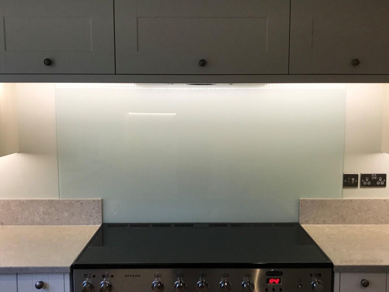 Colour Match Glass Kitchen Splashback