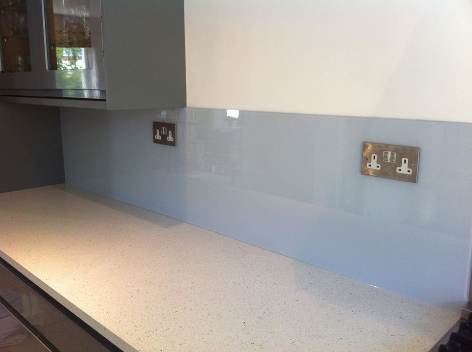 Coloured Kitchen Splashback Mineral Haze