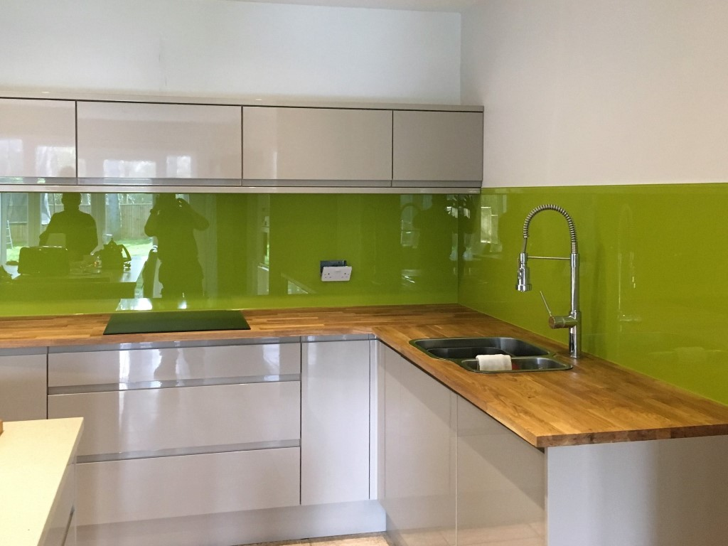 Coloured Glass Kitchen Splashback Coloured Glass