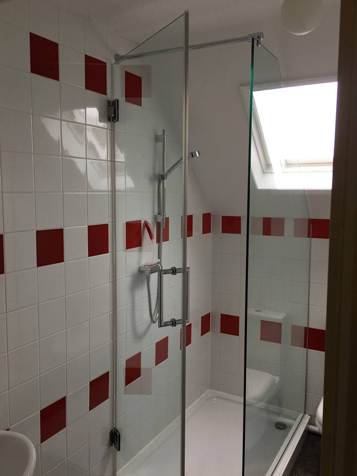 Glass Shower Door And Side Panel