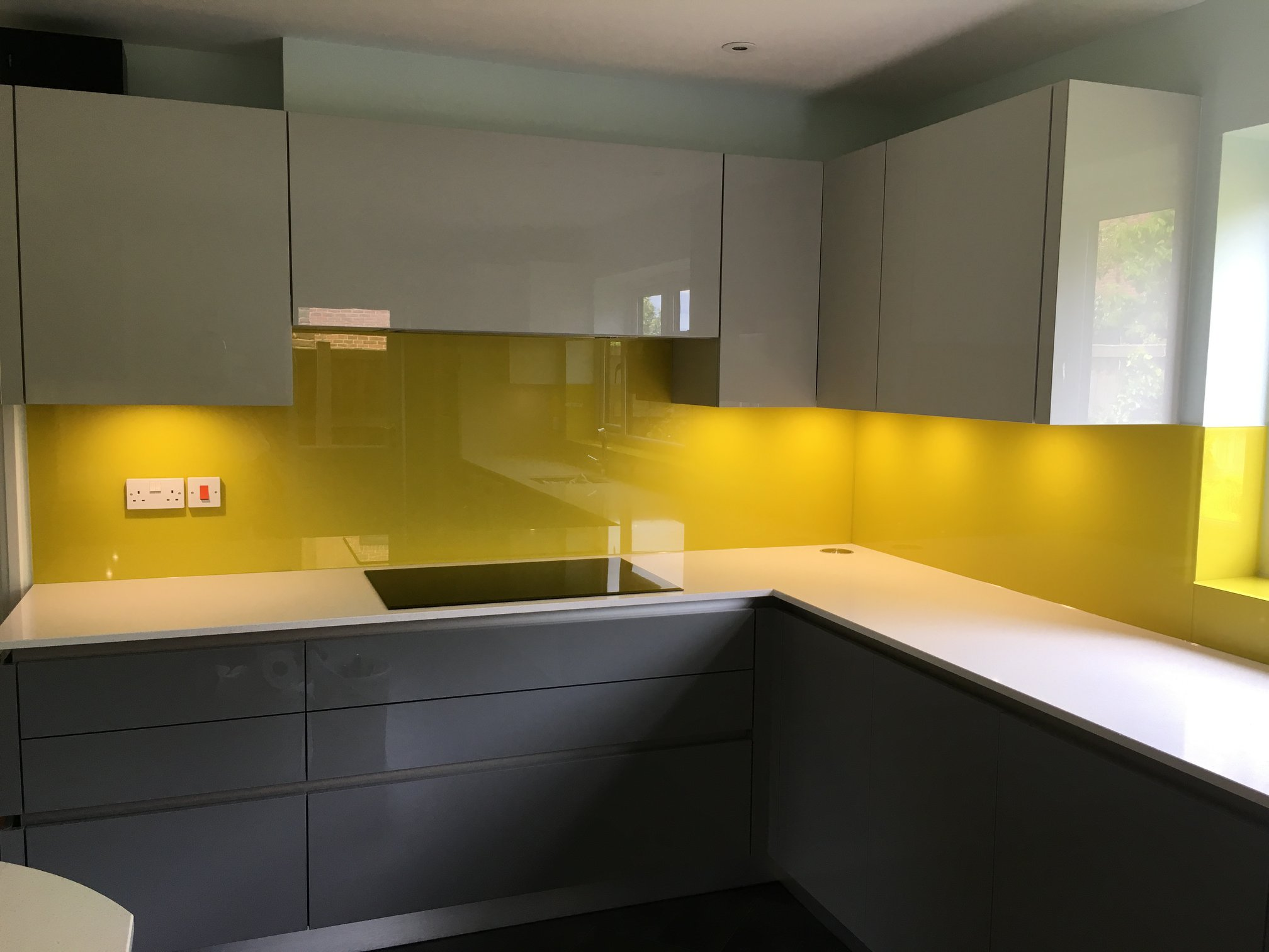 Kitchen Splashbacks Yellow