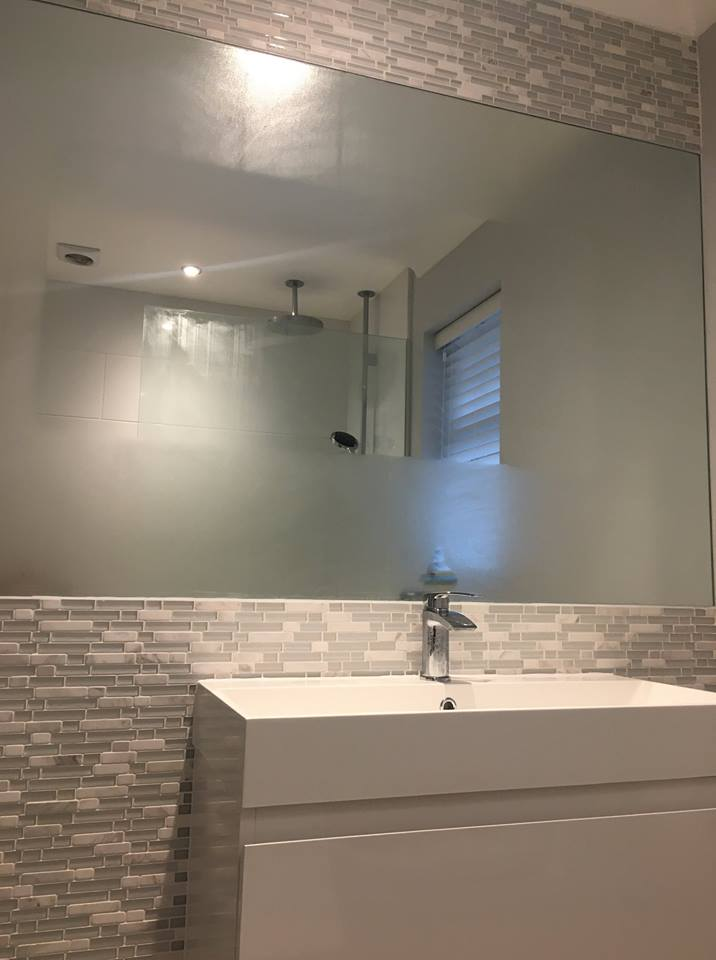 Mirror Glass Bathroom Splashback ideas