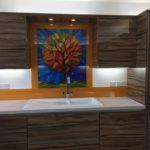 Printed Glass Kitchen Splashback